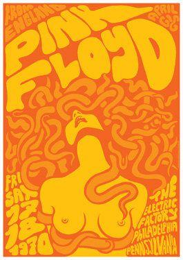 PINK FLOYD 17 April 1970 Philadelphia retro by tarlotoys on Etsy