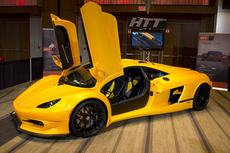 HTT Pléthore LC L V Hp Yellow Scissor Doors - Cool car doors