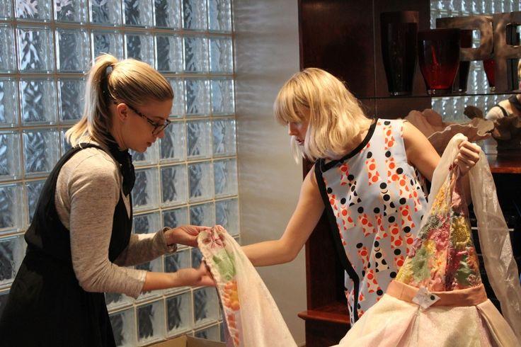 Fashion judges - Kayla Jurlina and Celine Chapman