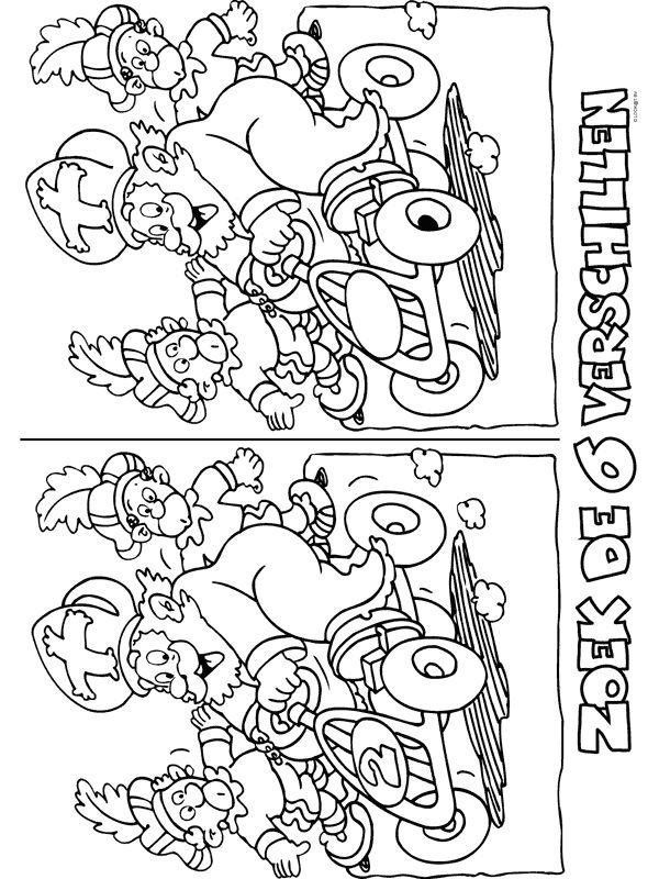 Kleurplaat Zoek de verschillen - Kleurplaten.nl