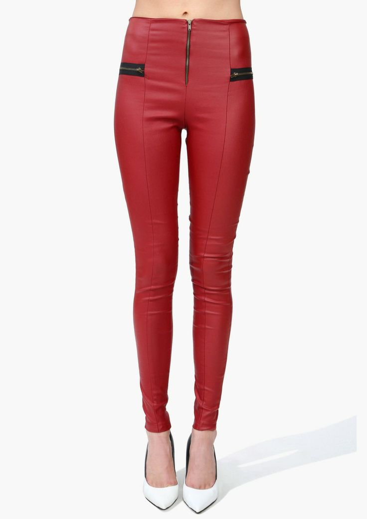 High Waist Leather Leggings   Shop for High Waist Leather Leggings Online #valentinesday #outfitidea