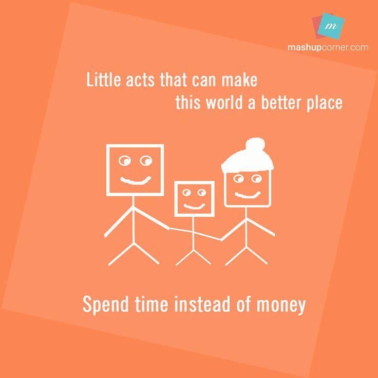 spend time not money - mashupcorner