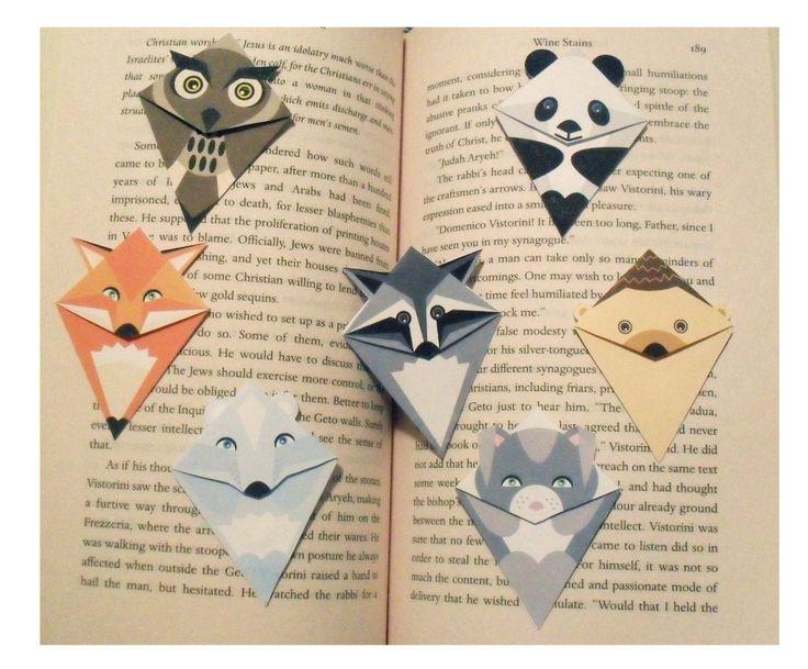 Animal bookmarks.