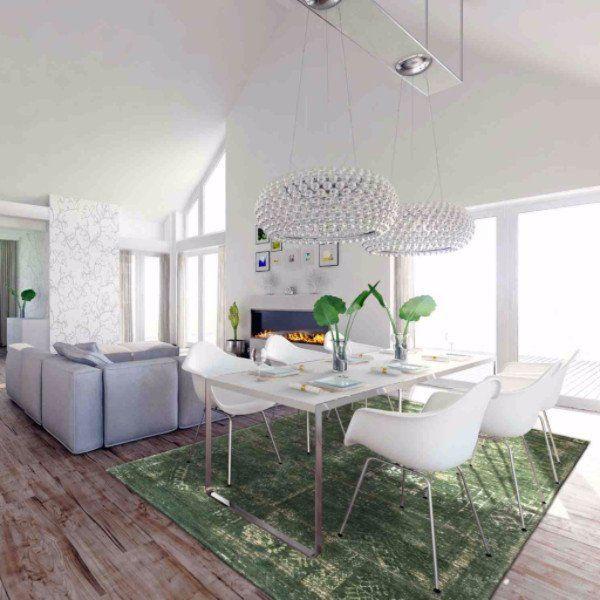Dining Room Louis De Poortere Fading World Rug - Modish Living Green Rug