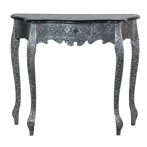 Metal Embossed Hall Console Table