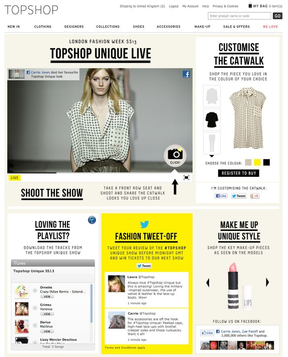 Customize The Catwalk: Topshop And Facebook Partner On A Social Runway For London Fashion Week | Co.Create: Creativity \ Culture \ Commerce