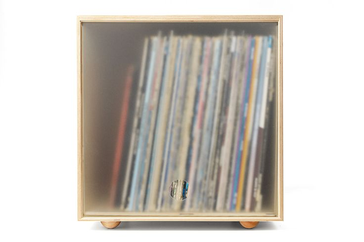 The SWG storage cube is designed for record collectors. It's stackable, durable, and has a clear door to keep the dust out.