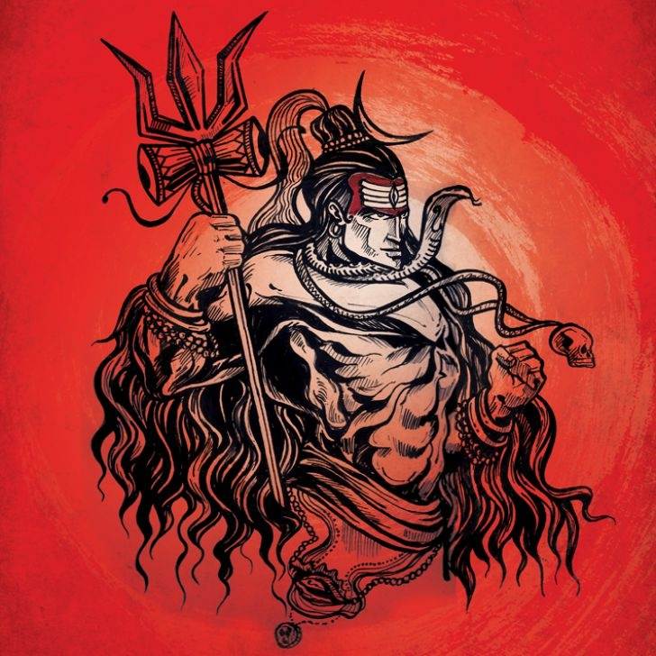 Shiva Red Poster - FabFurnish.com