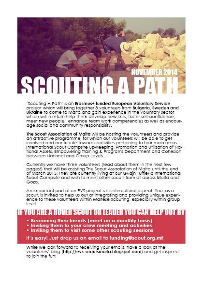 Scouting a path info booklet. Page 1: about the project. November 2014.