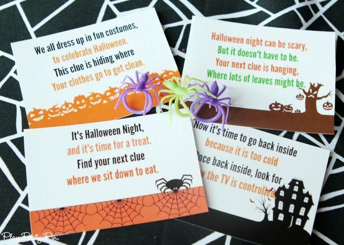 Free Printable Halloween Scavenger Hunt - Sugar Bee Crafts