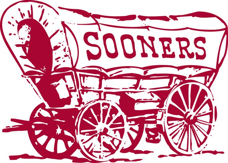 oklahoma sooner logo | Oklahoma Sooners Primary Logo (1952) - Sooner Scooner - maroon covered ...
