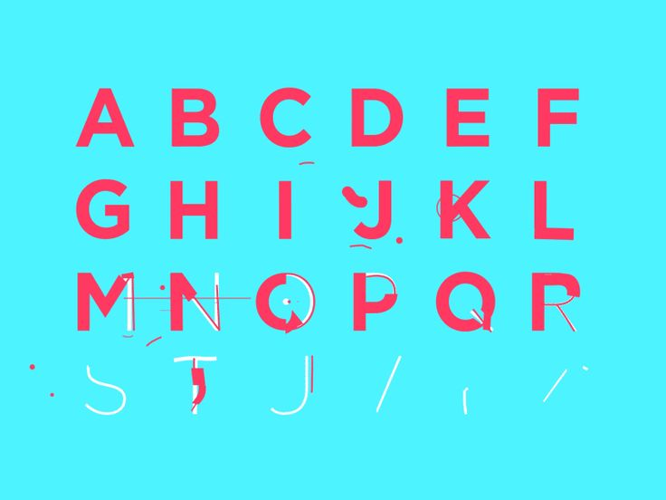 Animated font i'm working on as a personal project