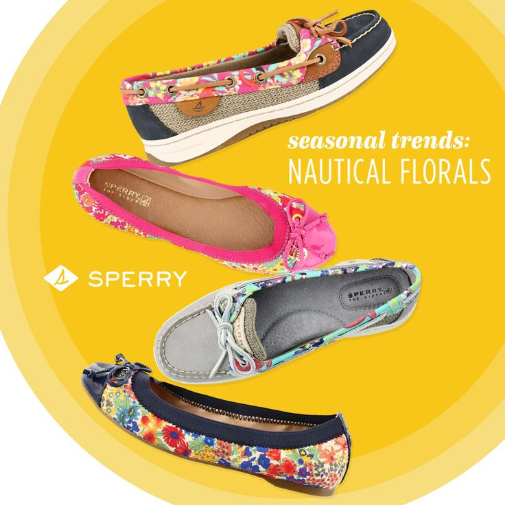 One of our favorite trends this season is that classic floral print mixed with the nautical styles that Sperry is known for.