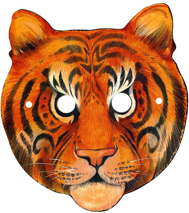 It's just a photo of Sizzling Printable Tiger Mask