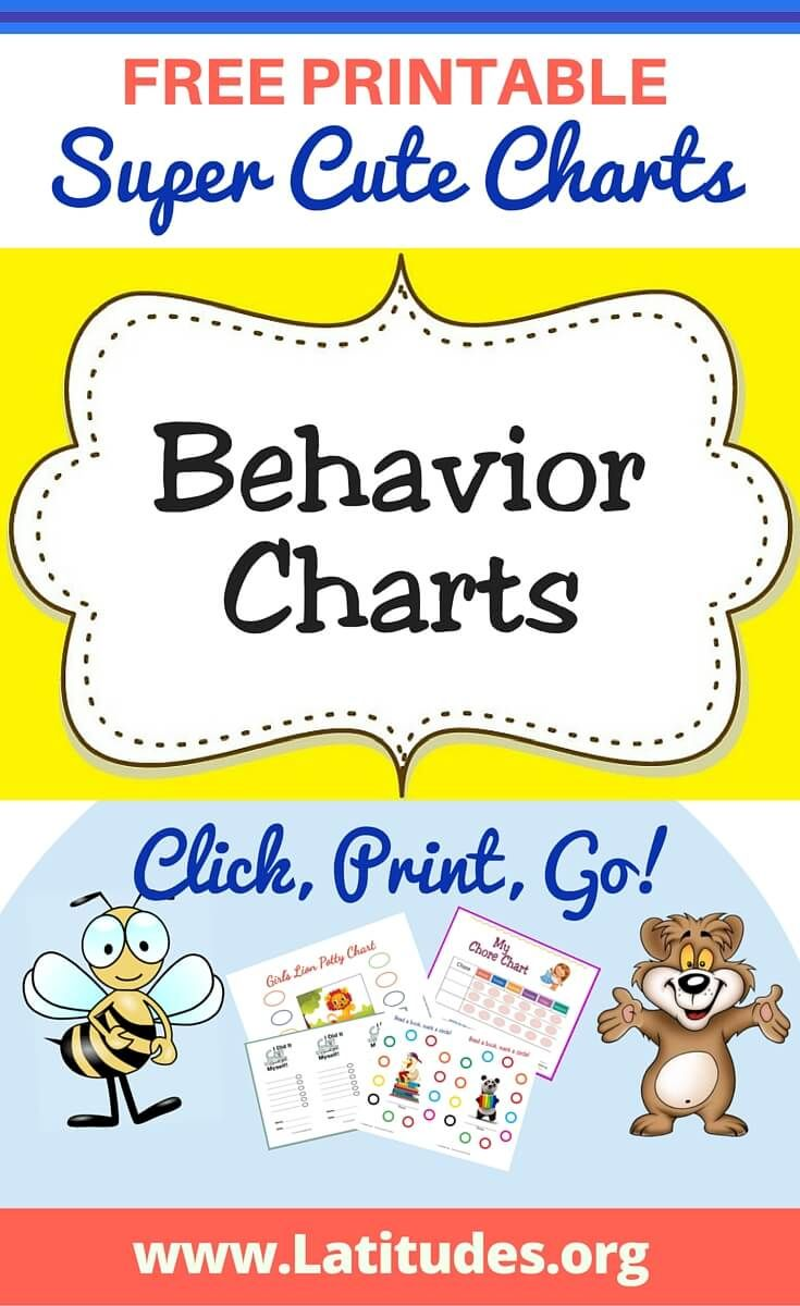 FREE Printable Behavior Charts For Kids  Free Printable Reward Charts For Teachers