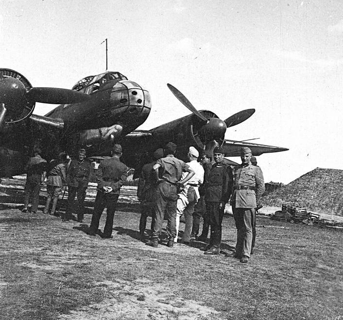 magyar Ju-88 C típusú repülőgép.