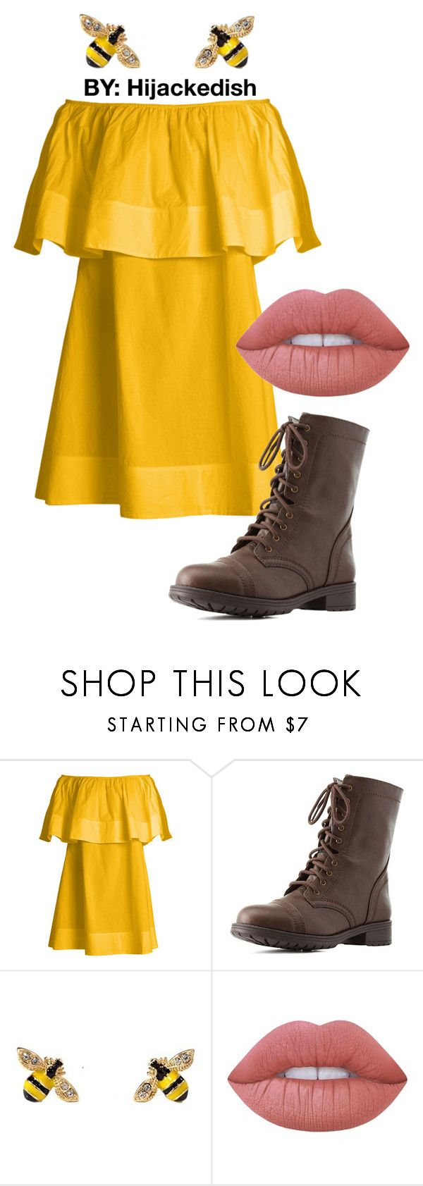 """bumblebee"" by hijackedish on Polyvore featuring Apiece Apart, Charlotte Russe and Lime Crime"