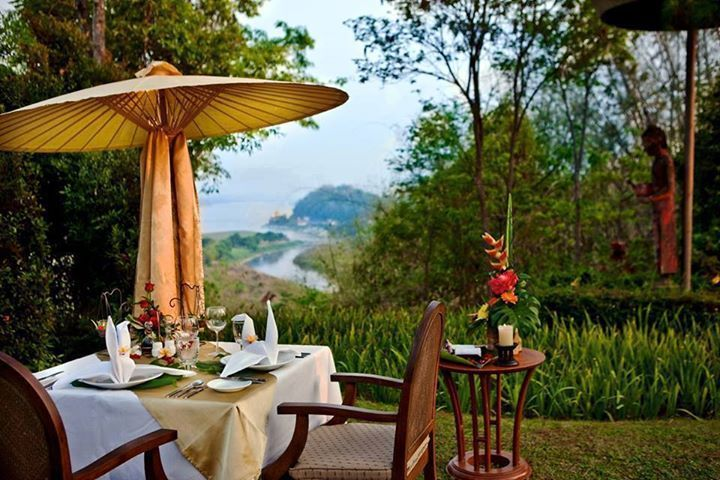 Enjoying your meal in the nature.
