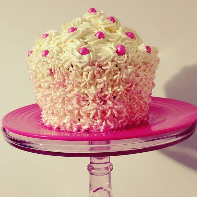 Just because we like eating cake covered in yummy buttercream  -  -  #familytime #we❤cake #yummy #bonding #bakeandeat #sixlets #buttercream #vanilla #sprinkles #pinkandwhite #sweetboucakes #gta #cakestagram #cakesofinstagram