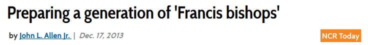 Preparing a generation of 'Francis bishops' | National Catholic Reporter