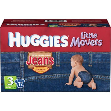 Huggies - Little Movers Jeans Diapers (choose your size), Blue
