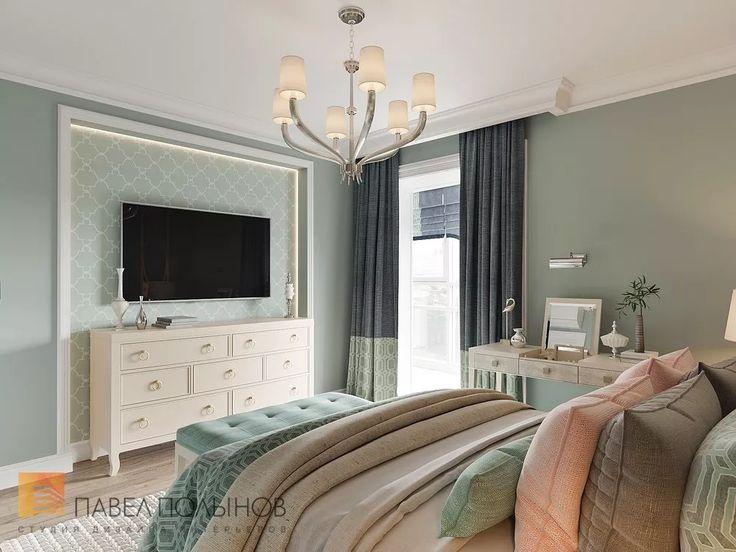 Фото: Дизайн спальни - Квартира в стиле американской неоклассики, ЖК «Академ-Парк», 107 кв.м.