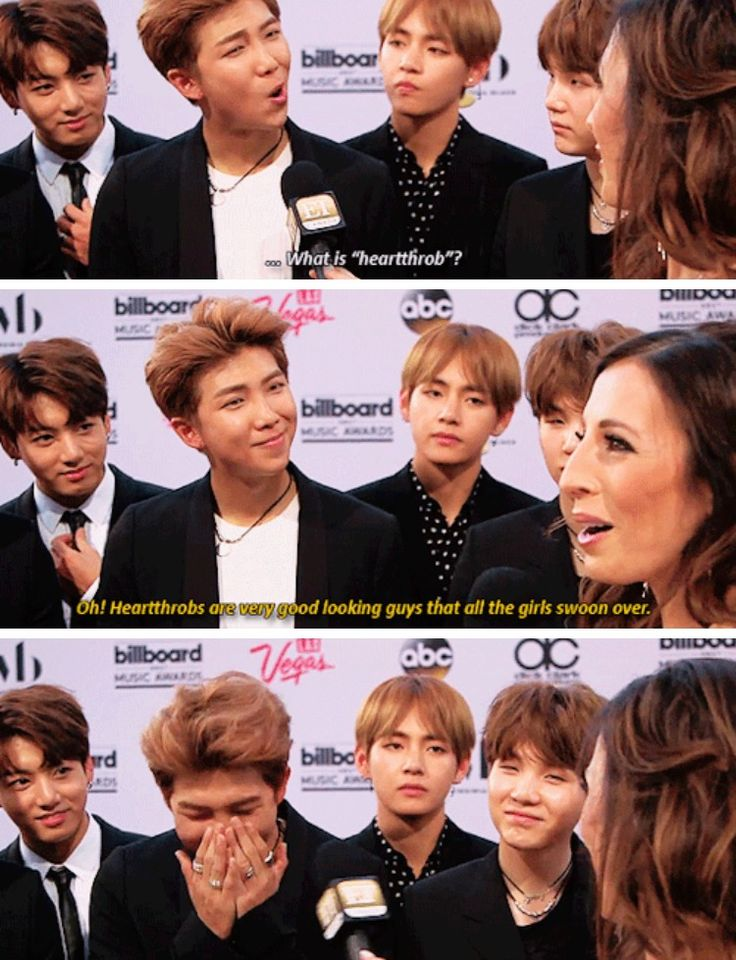 Heart throbs BTS And Rapmon<this is funny but can we just appreciate that bunny smileof kookie's, that adorable grin of suga's and that absolutely confused look of v