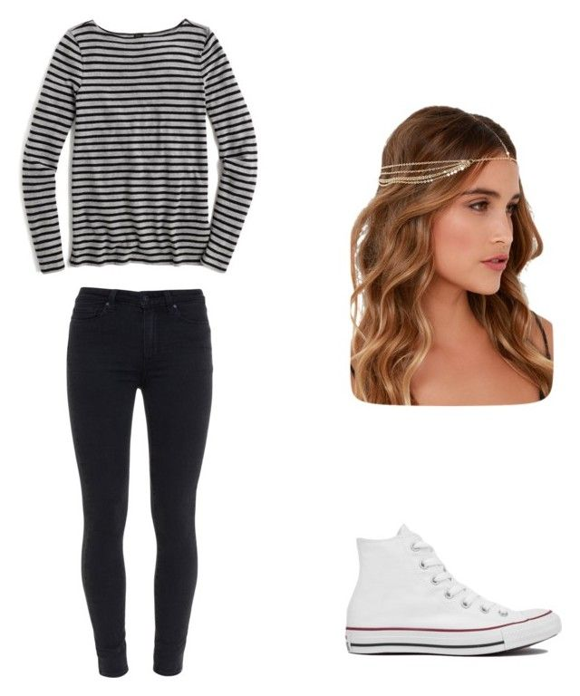 """Untitled #24"" by malineiksa on Polyvore featuring J.Crew, Paige Denim, Converse and Lulu*s"