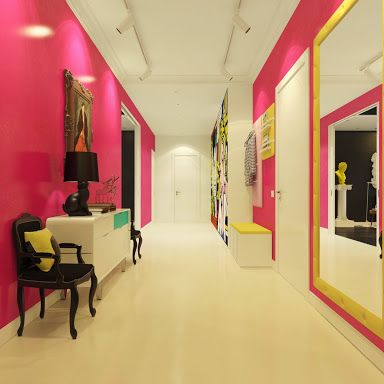 pink hallway - Google Search