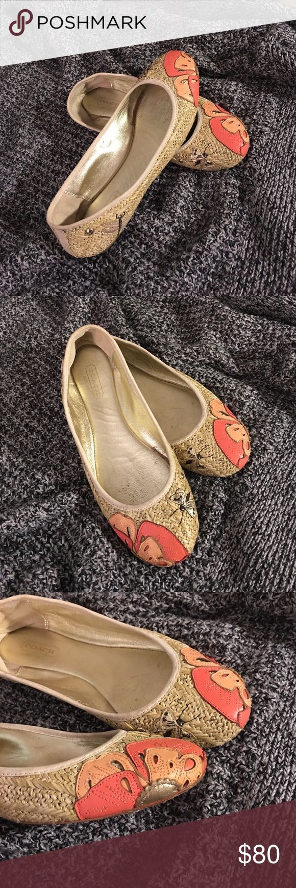 Coach Flats Size 6 Beautiful coach flat shoes. Preloved and used couple of times. Has sign of use. Still in great condition. Coach Shoes Flats & Loafers