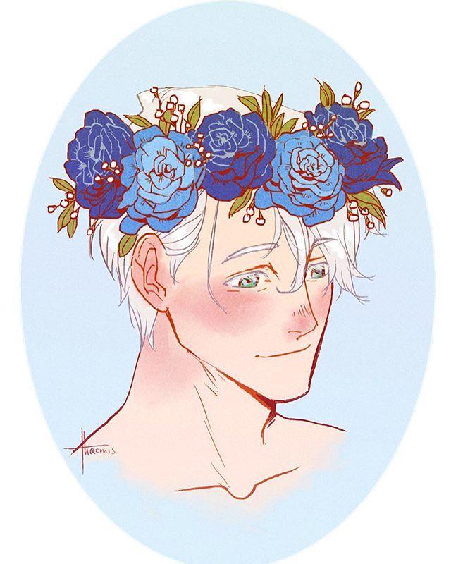 Victor Nikiforov | tumblr | flower crown