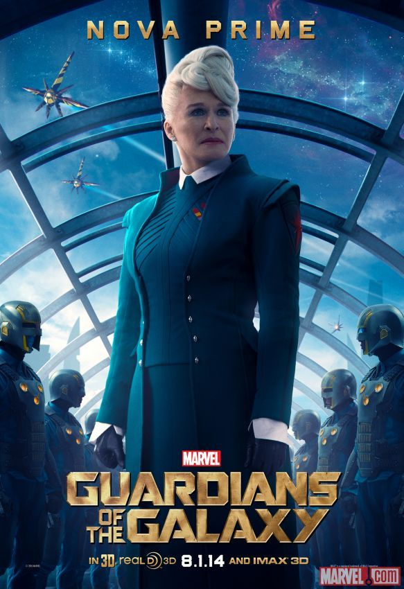 """Marvel's """"Guardians of the Galaxy"""" poster featuring Nova Prime (Glenn Close)"""