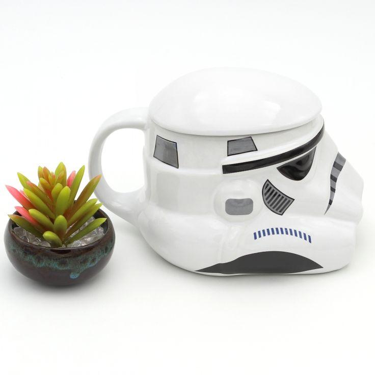 Classic Star Wars Mug Stormtrooper Darth Vader Helmet 3D Ceramic Coffee Drinks Cup With Lid Handgrip. Click visit to buy #Mug