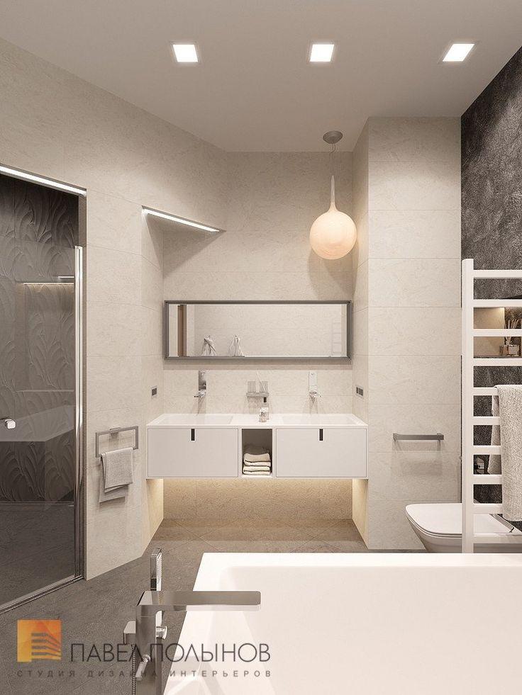 Фото: Ванная комната - Интерьер квартиры в стиле минимализм, ЖК «Классика», 130 кв.м.