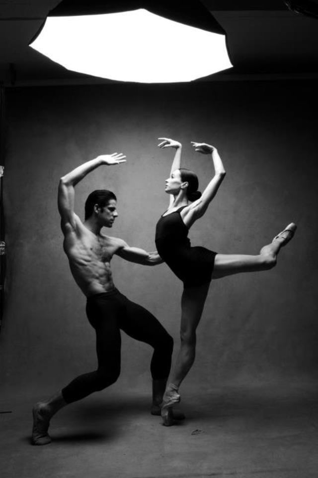 Dance photography. Octabank directly above subject.