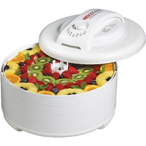 Snackmaster Express Food Dehydrator and Jerky Maker, White