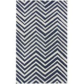 Found it at Wayfair - Chelsea Navy Blue/White Chevron Area Rug