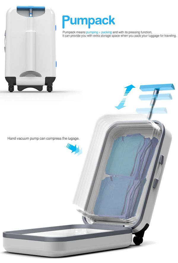 A vacuum packed suitcase: I really want this.