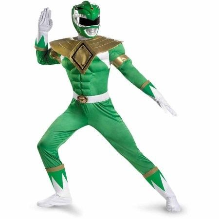 Power Rangers Green Ranger Classic Muscle Chest Costume Adult X-Large (42-46)