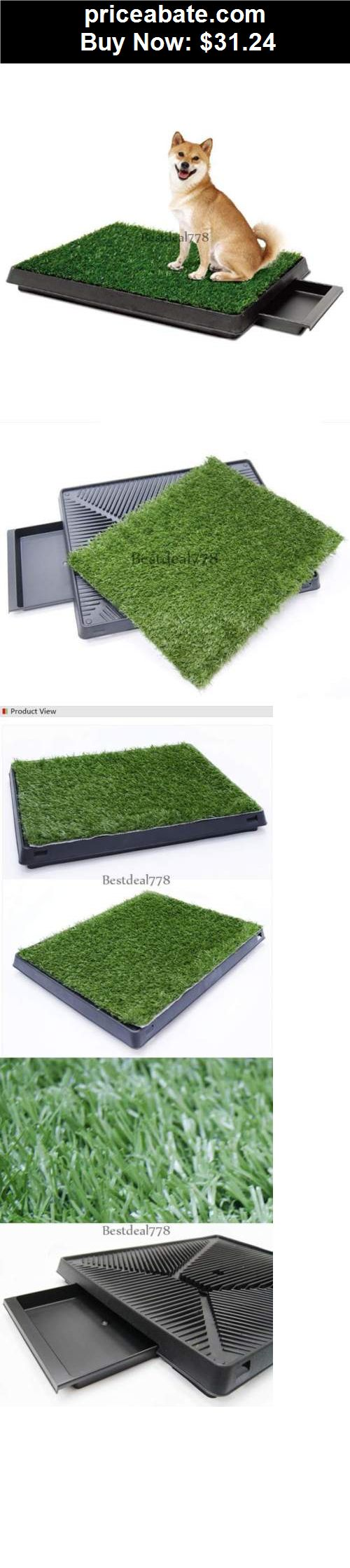 Animals-Dog: Pet Park Indoor Potty Dog Grass Mat Pad Training Petzoom Puppy Patch Patio - BUY IT NOW ONLY $31.24
