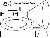 Trumpet Cut and Paste activity pattern - maybe use to act out Bugler's Dream???