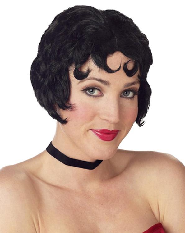 Womens Curly Black Betty Boop Style Wig   eBay