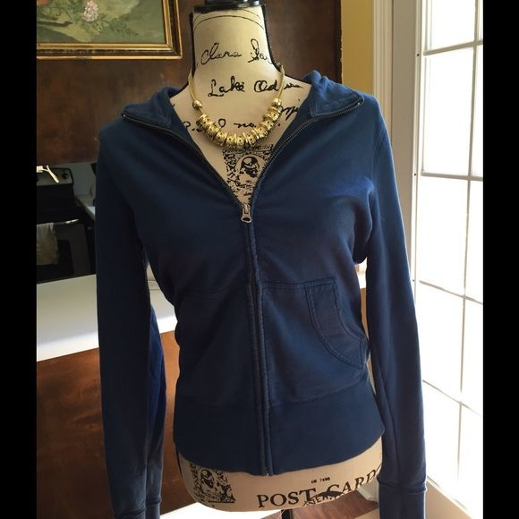 Old Navy Zip Up Cardigan Comfy little zip up cardigan made by old Navy. It has pockets as pictured in the front. Very soft and warm.  No spots stains or piling. Very good condition. Necklace sold seperately. Old Navy Jackets & Coats
