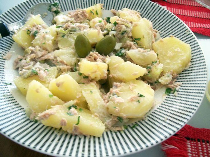 Salada de batatas com Atum