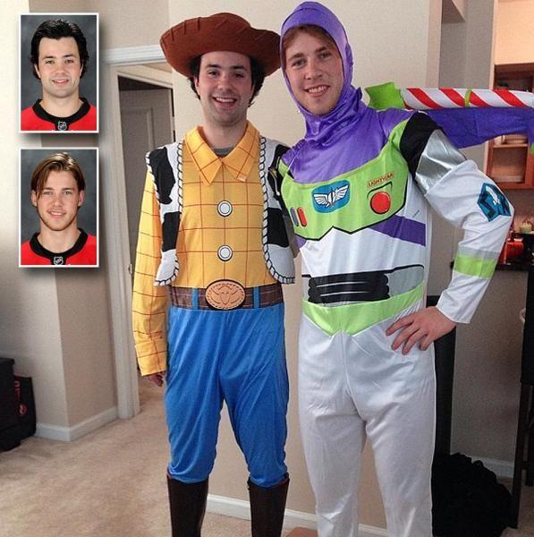 Carolina Hurricanes Ryan Murphy and Elias Lindholm