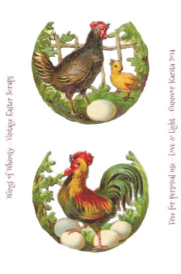 Wings of Whimsy: Easter Scraps - free for personal use #vintage #ephemera…