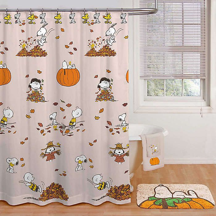 Collectpeanuts Com On Facebook It S Cute Snoopy Shower Curtains Like This That Make Me Want To Rip Out In 2020 Harvest Shower Fall Bathroom Decor Kid Bathroom Decor