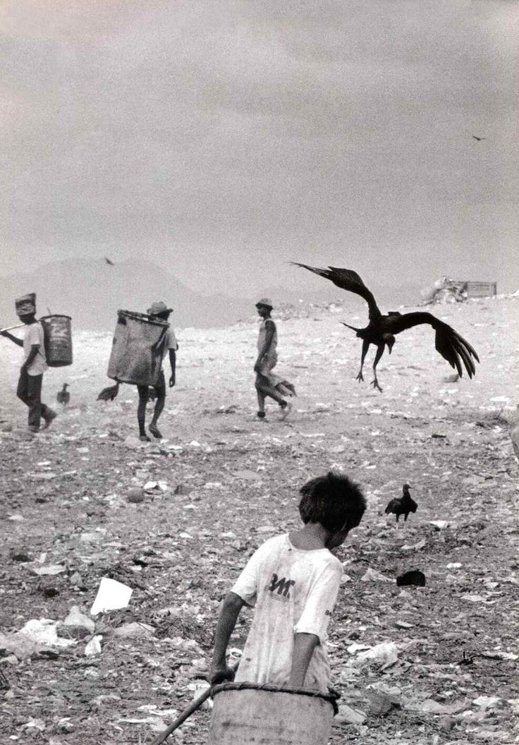 ASS 2 Q4: Confusion of real space: photo by Sebastiao Salgado; This photograph confuses our idea of real space as the bird is positioned where it appears to be next to the people in the background making the bird seem much larger and bazaar than in reality although it is actually closer to the camera making more sense. This photograph also uses the design elements of rhythm and intervals. cont in comments.