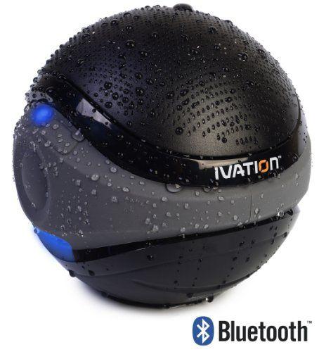 Ivation Waterproof Bluetooth Swimming Pool Floating Speaker