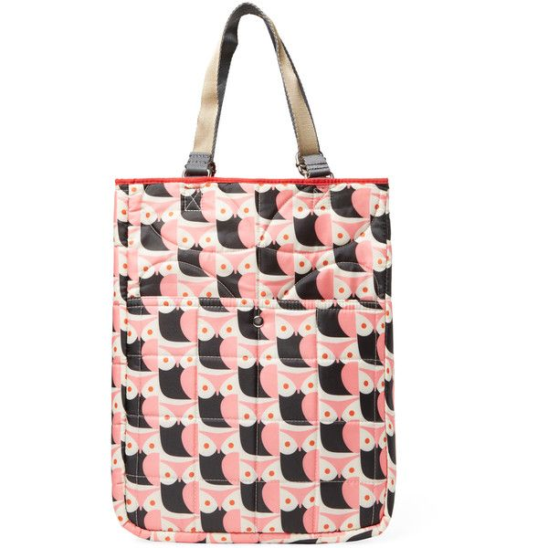Orla Kiely Little Owl Reversible Tote ($79) ❤ liked on Polyvore featuring women's fashion, bags, handbags, tote bags, red, handbags totes, red tote purse, orla kiely purse, owl handbag and red handbags